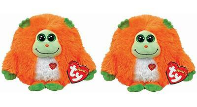 Set of 2 TY Mostaz Collect Mystery Message Chester 505 Babies Kids Cuddly Soft