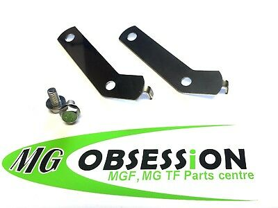 Mgf / Mg Tf Polished Stainless Steel Horn Brackets Inc New Stainlees Bolts