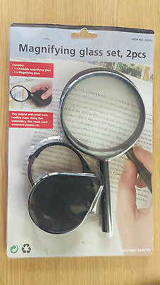 Magnifying glass and Loupe set