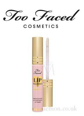 Too Faced Lip Insurance glossy shine boosting primer 4g ORIGINAL MADE IN USA!