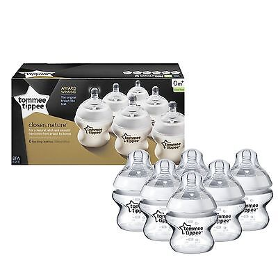 Tommee Tippee Closer To Nature 150 Ml/5fl Oz Feeding Bottles (6-pack)