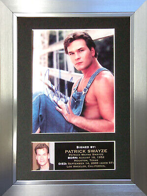 PATRICK SWAYZE Signed Autograph Mounted Reproduction Photo A4 Print no4
