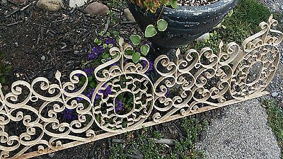 "Antique Wrought Iron FENCE WINDOW GRATE  Architectural Salvage Headboard 59""x18"""