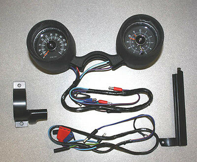 1966 Rally Pac V8 6000 rpm Black Ford Mustang & 1965 w/GT option, Pony Interior