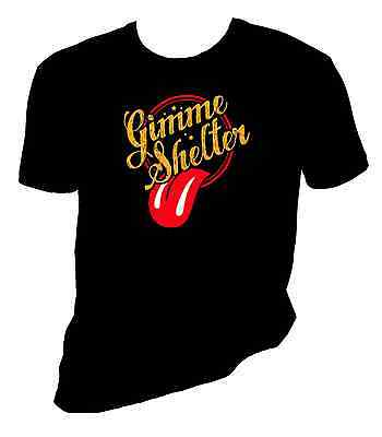 rolling stones t shirt, gimme shelter tee, Mick Jagger, Sizes S-6X