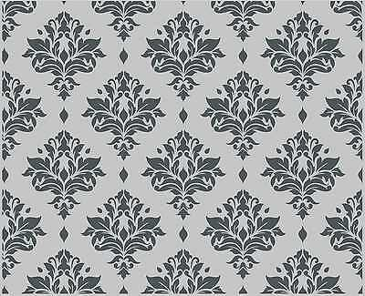Large Wall Damask Floral Stencil Pattern