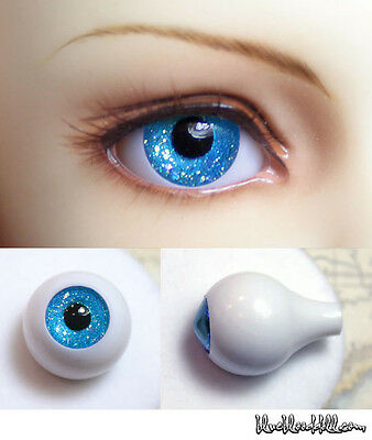 10mm Glitter Sea Blue full eyeball acrylic bjd doll eyes dollfie AE-60 Ship US
