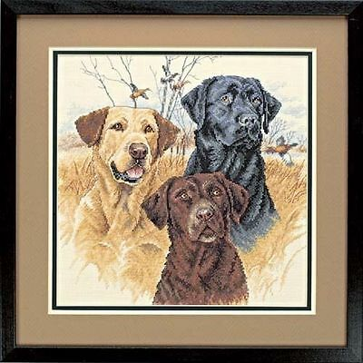 Dimensions - Counted Cross Stitch Kit - Great Hunting Dogs - Labradors - D35096
