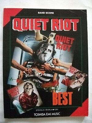 Quiet Riot Best Japan Band Score Guitar Tab