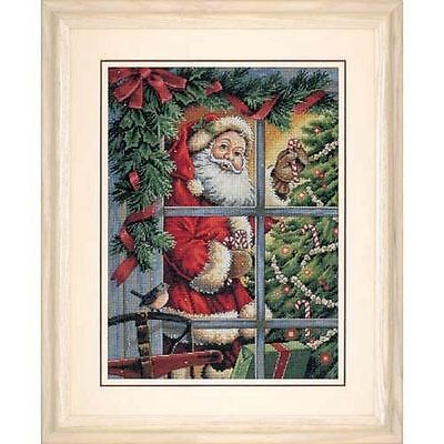 Dimensions - Counted Gold Cross Stitch Kit - Candy Cane Santa - D08734