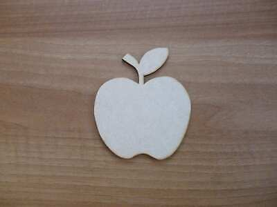Wooden Mdf Apple shapes decoupage craft various sizes E28