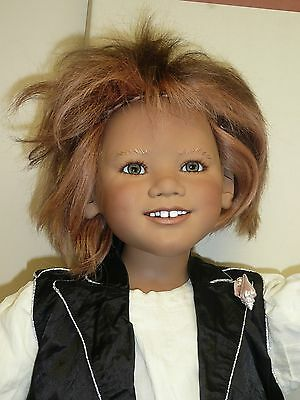 """37"""" Prinz Namor w/Gold by Annette Himstedt, 2006 Club Doll #7/377 w/COA & Box"""