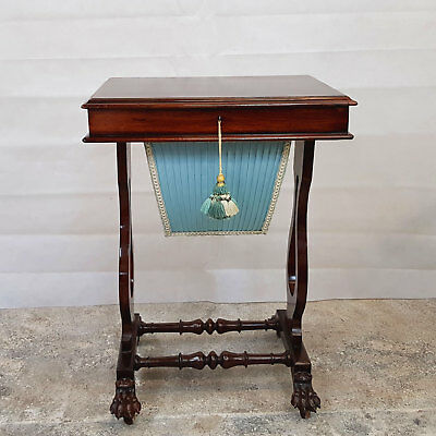 William IV Rosewood Worktable - Circa 1835 (Antique Sewing Table)