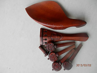 4/4 violin fittings Old Jujube handcarved very nice handcraft