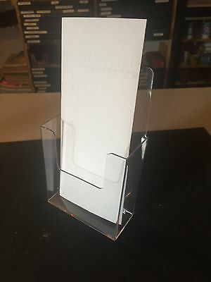 "Lot of 12 New Acrylic Brochure Stands Holders, 4 1/2""W, 7""H"