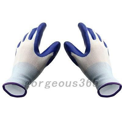 Blue Latex Coated Waterproof Thorn Resistant Anti Skid Garden Work Safety Gloves