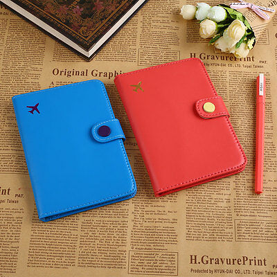Travel Journey Leather Passport Holder Cover ID Card Case Bag Wallet Pouch