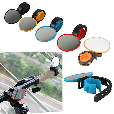 For Bike Bicycle Cycling Universal Mini Rotaty Rearview Handlebar Glass Mirror