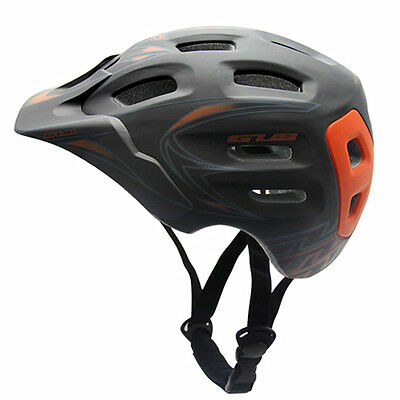 New Adult Mens Cycling Bicycle Bike Helmet Red PC+EPS Color With Visor Mountain