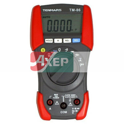 Tenmars TM-86 Digital Multimeter Duty Cycle, Continuity, Range Hold, Data Hold