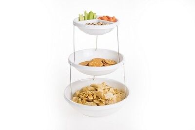 3 Tier Collapsible Twistfold Serving Platter Plate Nesting Bowl Party Caravan