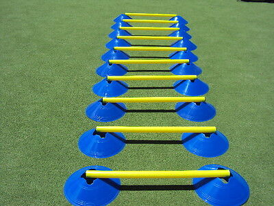 Agility Cone Ladder with 20 cones and 10 poles
