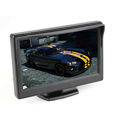 """5"""" inch vehicle LED HD monitor for Car Truck Reverse Parking 3M sticker mount"""