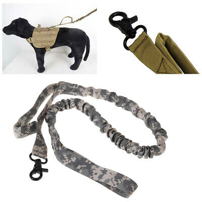 1000D Nylon Tactical Military Police Dog Training Leash Elastic Pet Collars New