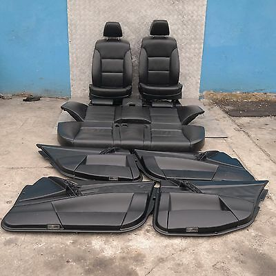BMW 5 SERIES E60 Black Leather Interior Seats With Door Cards