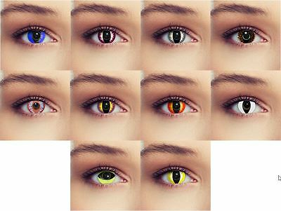 Halloween Cat Eye Contact Lenses Lentilles Scary Costume Crazy Monster
