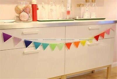 15Flags 2.8 Meter Colorful Felt Banners Party Home Wedding Garland Decoration S2