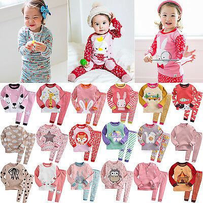 """G.50S Style"" Vaenait Baby Kids Toddler Girls Long Clothes Pajama Set 12M-7T"