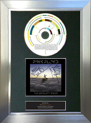 PINK FLOYD The Endless River Signed Autograph CD & Cover Mounted Print A4 62