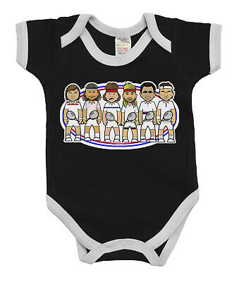 VIPwees Babygrow Tennis Legends Boys & Girls Baby Bodysuit
