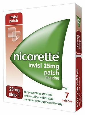 Nicorette Invisi 25mg Nicotine Patch Step One 7 Patches
