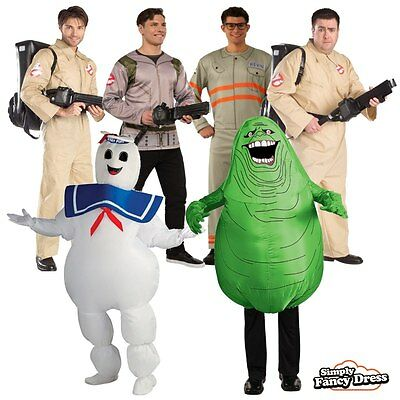 Mens Ghostbusters Halloween 80s Party Outfit Fancy Dress Costume