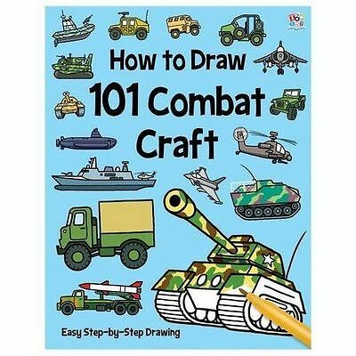 HOW TO DRAW 101 COMBAT CRAFT ~ Easy step-by-step drawing TANKS, PLANES, SUBS....