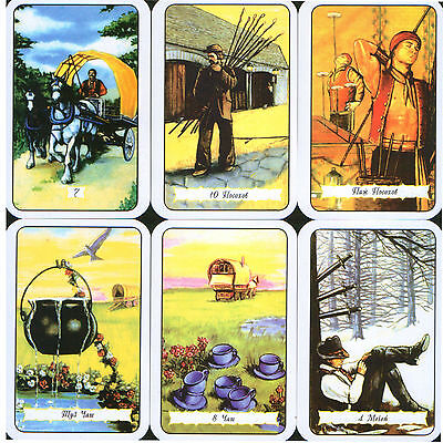 The Buckland Romani Tarot Russian 80 Cards Deck Comes with English PDF Booklet