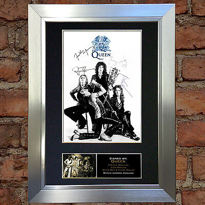 QUEEN Signed Autograph Mounted Photo Reproduction A4 Print no327