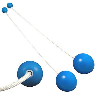 Pro Contact Poi - Blue with 100mm Poi Heads