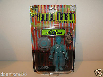 Disneyland HAUNTED MANSION SKELETON HITCH HIKING GHOST FIGURE NEW on Card