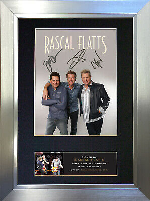 RASCAL FLATTS Signed Autograph Mounted Photo Reproduction A4 Print no367
