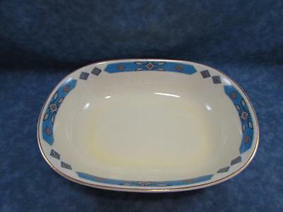 "Cherokee by WS George 9"" Oval Vegetable Bowl Blue Band w Diamond Cavitt-Shaw"