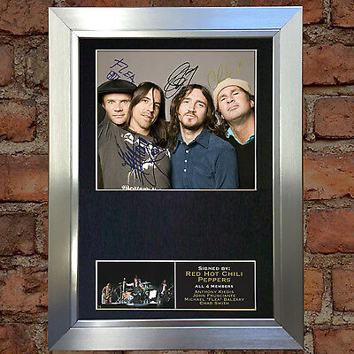 RED HOT CHILI PEPPERS Signed Autograph Mounted Photo Reproduction A4 Print no183