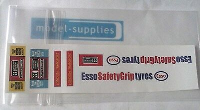 "Dinky 289 Routemaster Bus ""Esso Tyres"" reproduction sticker set"