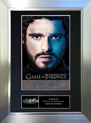 RICHARD MADDEN Game Of Thrones Signed Autograph Mounted Repro Photo A4 Print 349