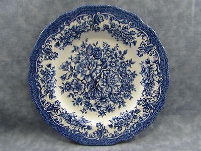 "Avondale Blue by Meakin, J & G 7"" Dessert Pie Plate Allover Blue Floral & Scroll"