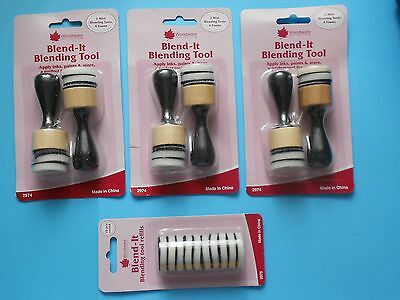 3 packs of Woodware BLENDING TOOLS plus 1 pack of REFILLS use with inks paints