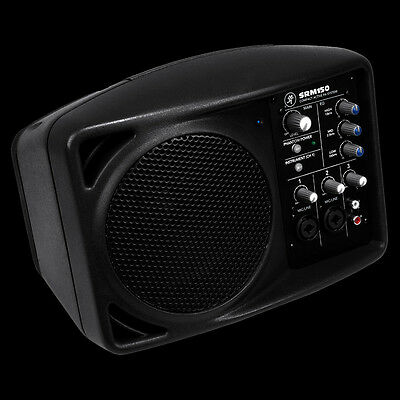 """Mackie SRM150 5"""" Compact Active PA Monitor Speaker System w/ Built-In Mixer"""