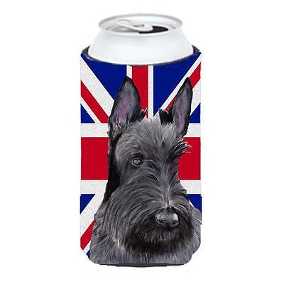 Scottish Terrier With English Union Jack British Flag Tall Boy bottle sleeve ...